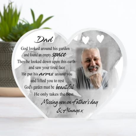 Missing you on Father's Day - God's Garden Heart Block
