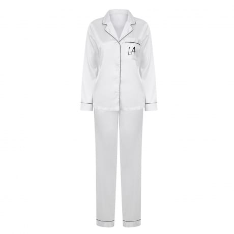 Personalised White Luxury Pyjamas