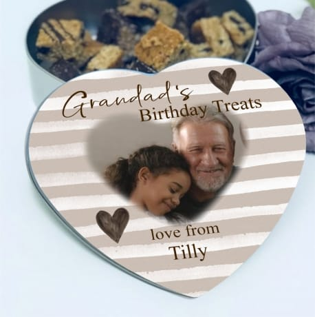 Personalised Birthday Heart tin