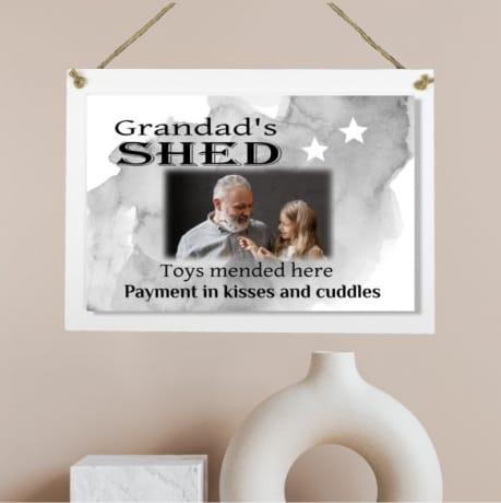 Personalised Wooden Sign - Grandad's shed