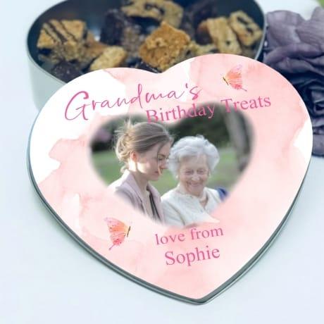Personalised Birthday Heart tin