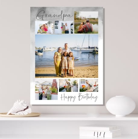 7 Photo Birthday Canvas Collage