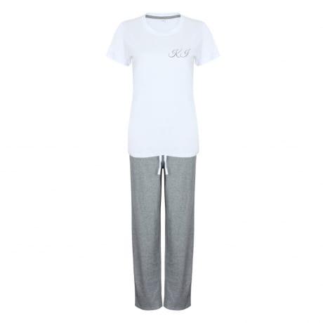 Personalised Grey Luxury Pyjamas (in a bag)