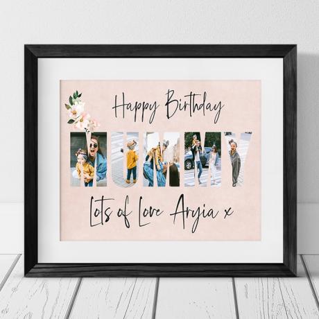 Mummy photo collage - Birthday gift