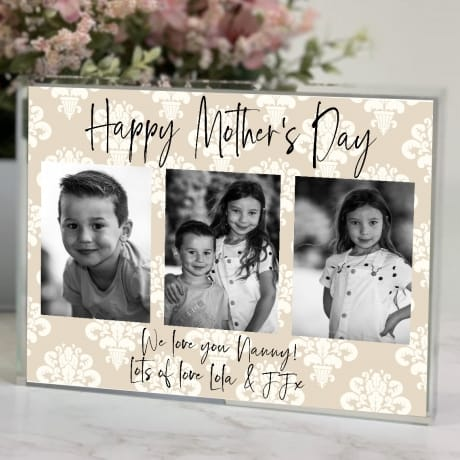 Mother's Day Nanny Photo Block Collage