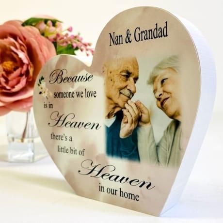 Personalised Wooden Heart -Heaven