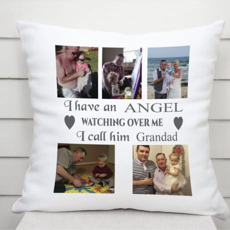 Personalised remembrance cushion -I have an Angel...