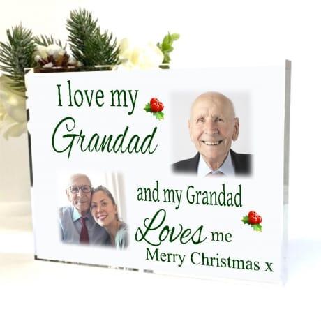 Love : Christmas Block Grandad