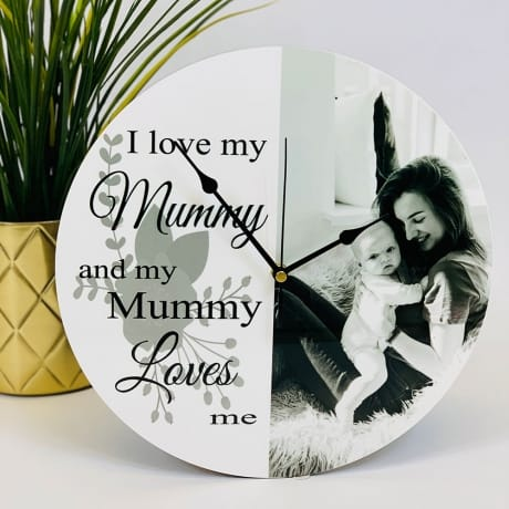 Personalised clock with editable text