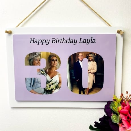 Personalised Deluxe Wall Signs - 30 Birthday