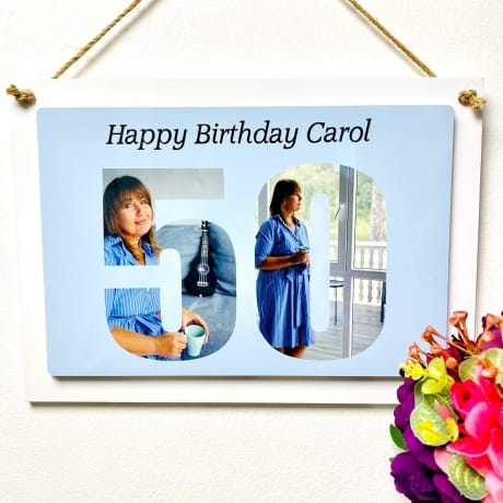 Personalised Deluxe Wall Signs - 50th Birthday