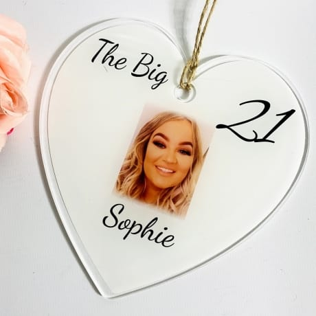 The big 21 Birthday Heart