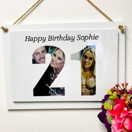 Personalised Deluxe Wall Signs - 21st Birthday
