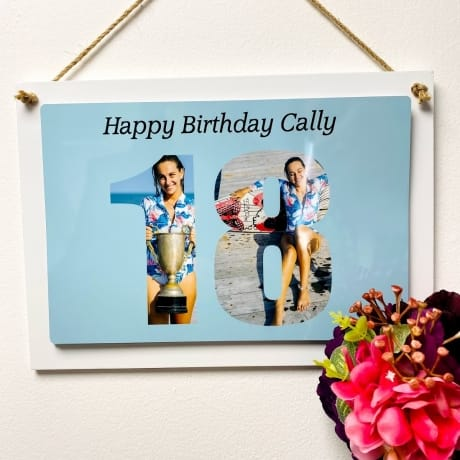 Personalised Deluxe Wall Signs - 18th Birthday