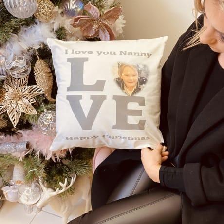 Love photo cushion