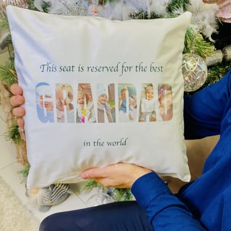Cushion - Grandad photo letters