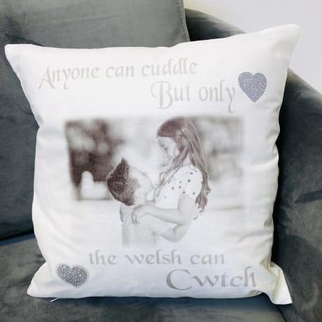 Glitter Cushion - Cwtch cushion