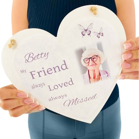 Personalised Deluxe Wooden Heart Memory Keepsake