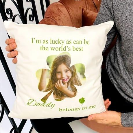 Personalised photo Cushion : Clover