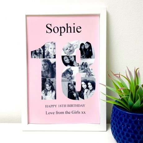Personalised Deluxe Wall Frame 18th Birthday Keepsake