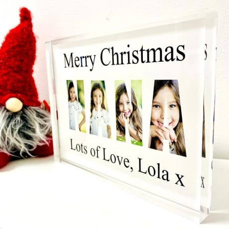 Nana Photo letters Christmas collage