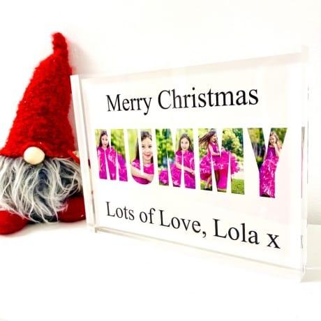 Mummy photo block collage - Merry Christmas