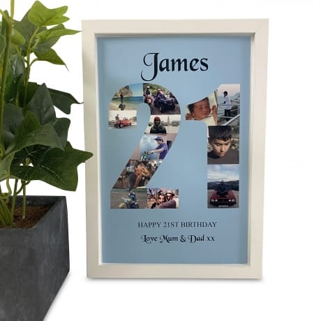 Personalised Deluxe Wall Frame 21st Birthday Keepsake
