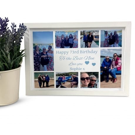 Personalised Deluxe Wall Frame Birthday Keepsake