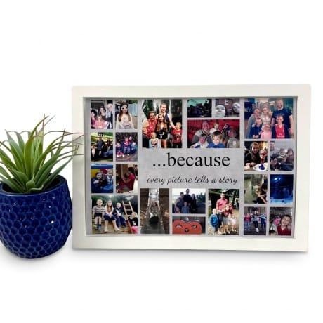 Personalised Deluxe Wall Frame Keepsake