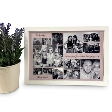 Personalised Deluxe Wall Frame Friend Keepsake