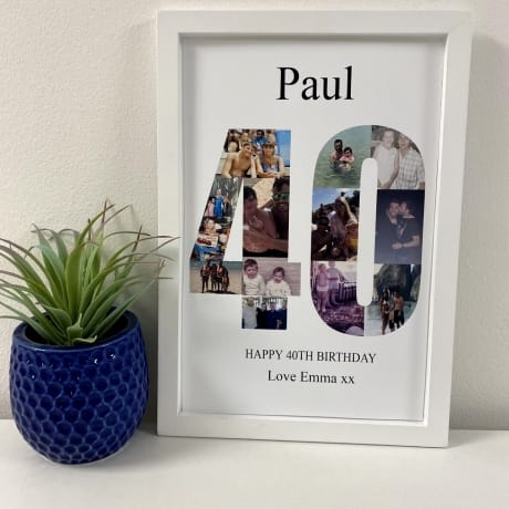 Personalised Deluxe Wall Frame 40th Birthday Keepsake