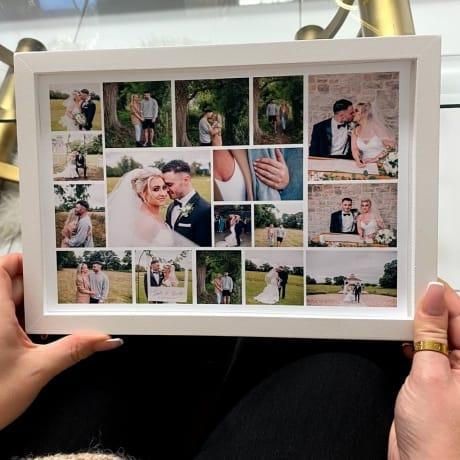 Personalised Deluxe Wall Frame Photo Keepsake