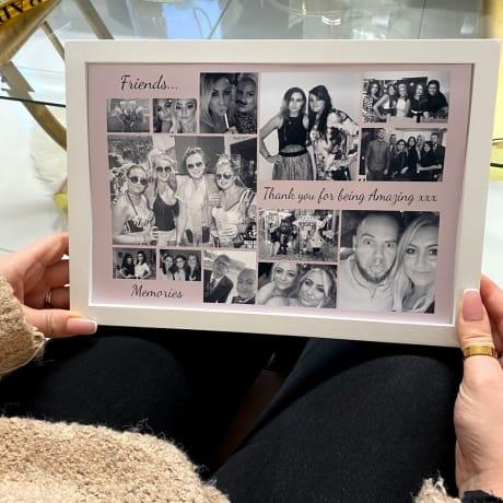 Personalised Deluxe Wall Frame Friend Keepsake