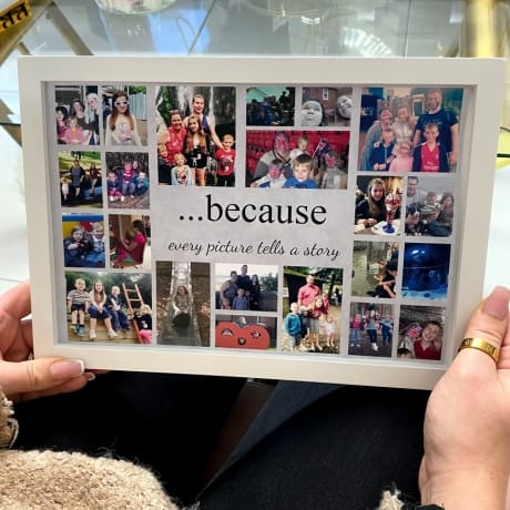 Personalised Deluxe Wall Frame Keepsake