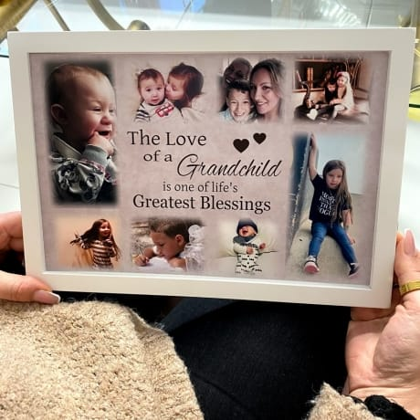Personalised Deluxe Wall Frame Family Keepsake