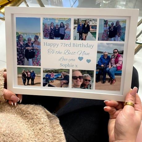 Personalised Deluxe Wall Frame Birthday Keepsake