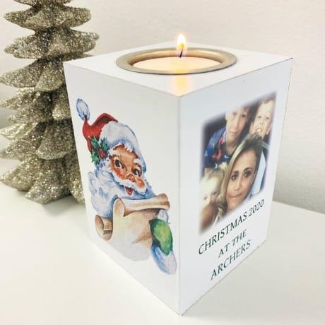Christmas Tealight Holder - Christmas at the