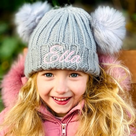 Personalised Twin Bobble Hats