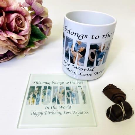 Mummy Photo Letters Mug