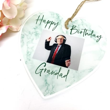 Personalised Birthday Hanging Heart