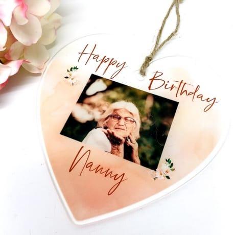 Personalised Birthday Hanging Heart