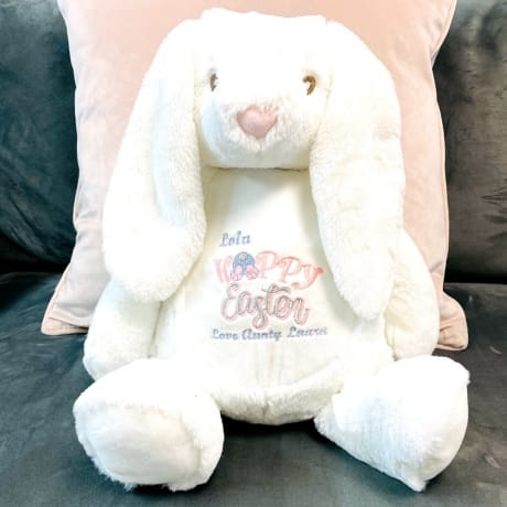 Personalised White Easter Bunny