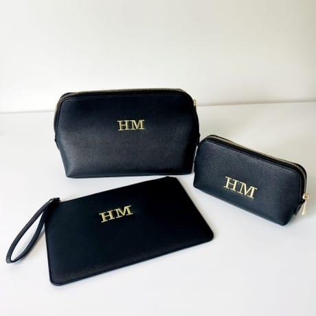 Personalised Luxury Wash Bag Set of 3