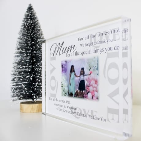 Personalised Thank you Block- Merry Christmas