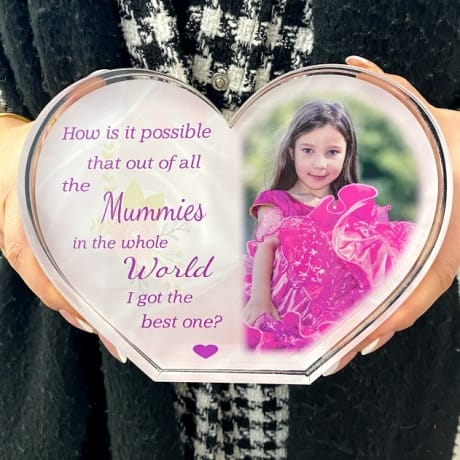 Personalised Acrylic Heart Photo Block - How is it possible