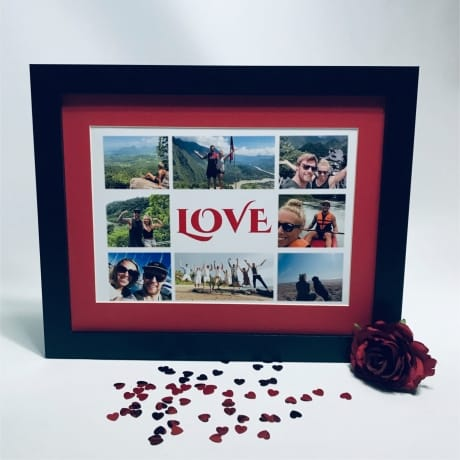Love personalised photo collage