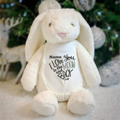Love You To The Moon And Back Personalised Rabbit