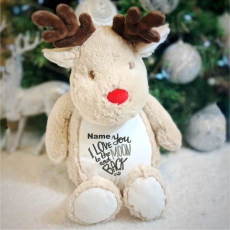 Love You To The Moon And Back Personalised Reindeer
