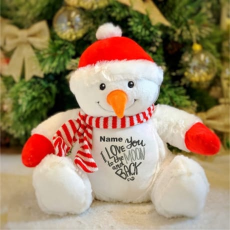 Love You To The Moon And Back Personalised Snowman