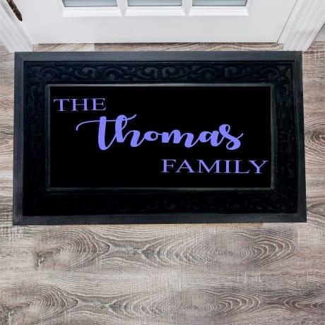 Luxury Personalised Family Doormat
